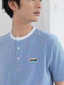 [Rakuten Fashion]【SALE/70%OFF】SUNNYSPORTS(サニースポーツ)別注USAコットンヘンリーネックボーダーTシャツ coen コーエン カットソー Tシャツ ブルー ベージュ【RBA_E】