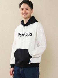 [Rakuten Fashion]PENFIELD(ペンフィールド)別注スウェットパーカー coen コーエン カットソー パーカー ホワイト ネイビー【送料無料】