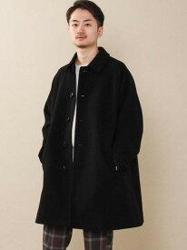 [Rakuten Fashion]ニットメルトンステンカラーコート coen コーエン コート/ジャケット ステンカラーコート ブラック ベージュ【送料無料】
