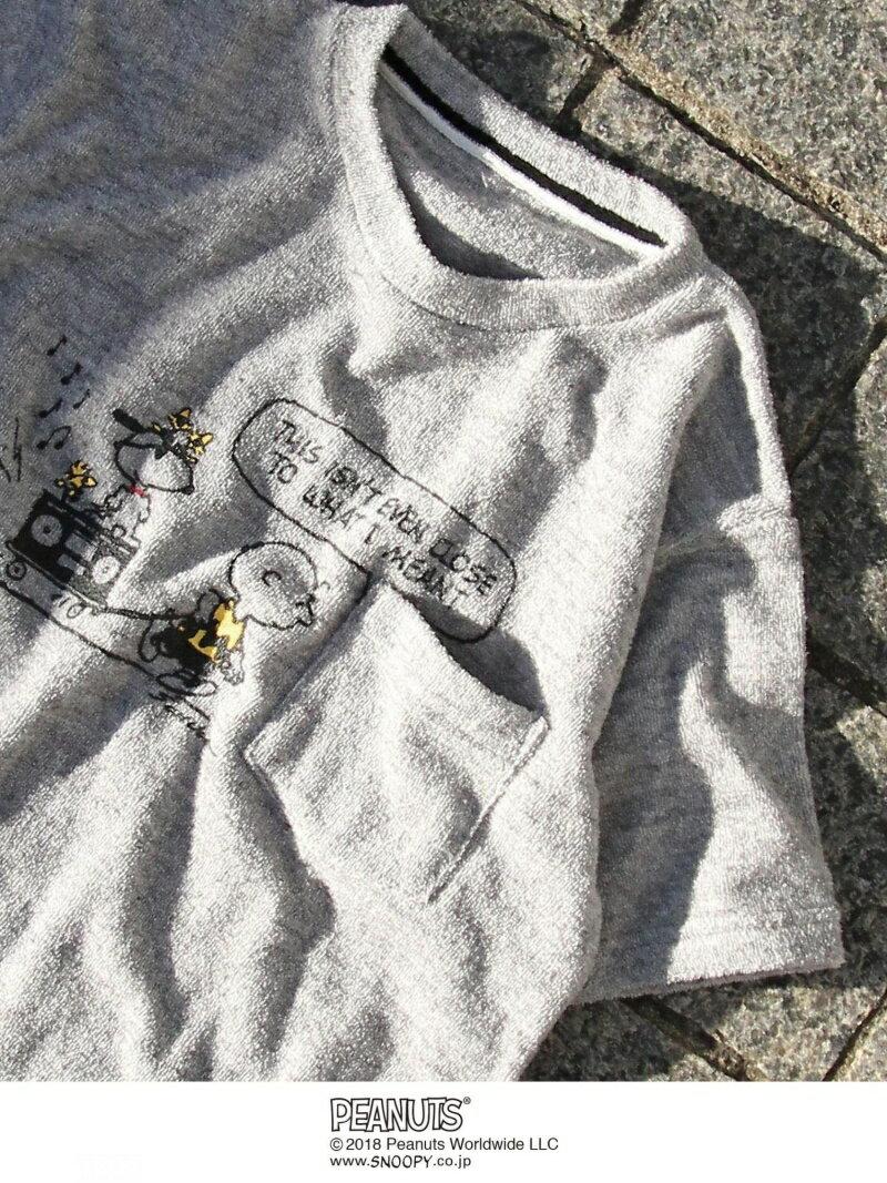[Rakuten BRAND AVENUE](SNOOPY/スヌーピー)パイルサーフTシャツ(グレー系その他,ブルー系その他⇒WEB限定カラー) coen コーエン カットソー【先行予約】*