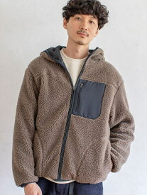 [Rakuten Fashion]ボアフリースジップパーカー(ボアジャケット)# coen コーエン コート/ジャケット ブルゾン ブラウン ホワイト【送料無料】