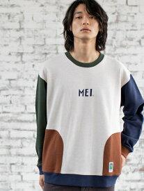 [Rakuten Fashion]【SALE/20%OFF】MEI(メイ)別注スウェットクルーネック coen コーエン カットソー Tシャツ ホワイト ブラウン グリーン【RBA_E】