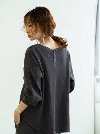 [Rakuten Fashion]【WEB限定セットアップ対応】ヘビーワッフルドルマンスリーブプルオーバー coen コーエン カットソー Tシャツ グレー ブラック ベージュ