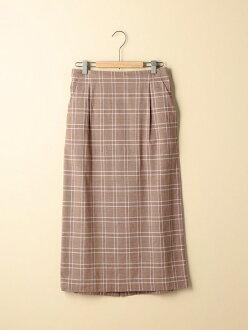 [Rakuten BRAND AVENUE]棉布檢查伸展緊湊的長裙coen科恩裙子