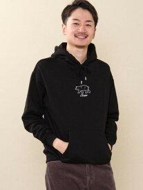 [Rakuten Fashion]コーエンベアプリントスウェットパーカー coen コーエン カットソー パーカー ブラック ベージュ【先行予約】*