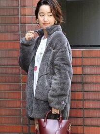 [Rakuten Fashion]Champion(チャンピオン)別注シェルパフリースブルゾン#(ジップブルゾン/ボアブルゾン) coen コーエン コート/ジャケット ブルゾン グレー ホワイト【先行予約】*【送料無料】