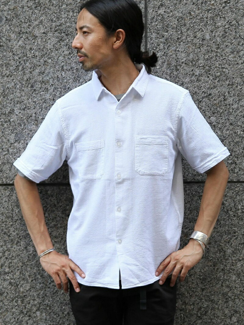 【SALE/55%OFF】coen パナマショートスリーブシャツ コーエン シャツ/ブラウス【RBA_S】【RBA_E】