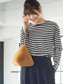 [Rakuten Fashion]ボーダーボートネックカットソー coen コーエン カットソー Tシャツ ブラック ホワイト ブラウン ネイビー