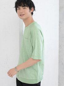 [Rakuten Fashion]ガゼットスラブハーフスリーブTシャツ coen コーエン カットソー Tシャツ ホワイト ブラウン ネイビー