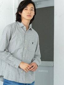 [Rakuten Fashion]ビエラ起毛ソリッドネルシャツ coen コーエン シャツ/ブラウス 長袖シャツ グレー ホワイト ネイビー