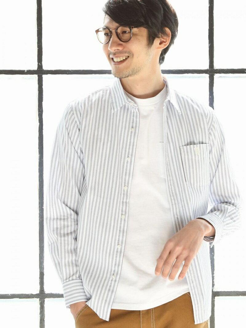 [Rakuten BRAND AVENUE]リバーストライプレギュラーカラーシャツ coen コーエン シャツ/ブラウス