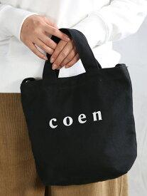 [Rakuten BRAND AVENUE]【Sサイズ】coen2WAYロゴトートバッグ coen コーエン バッグ