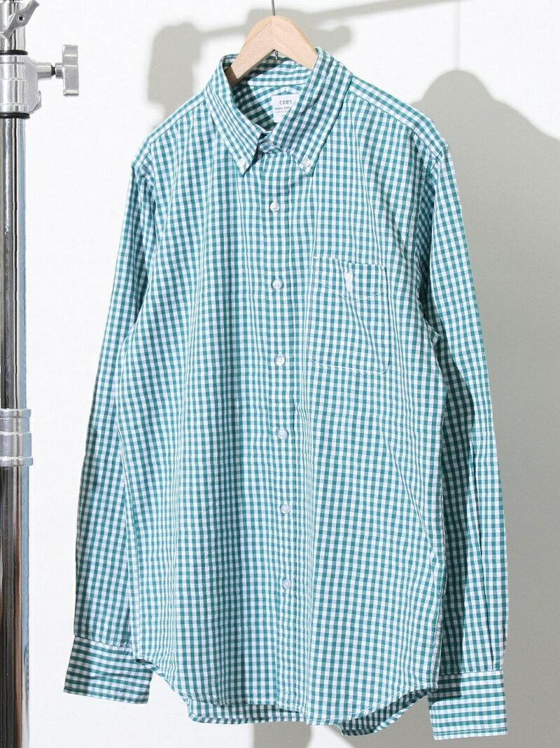 [Rakuten BRAND AVENUE]タイプライターギンガムボタンダウンシャツ coen コーエン シャツ/ブラウス