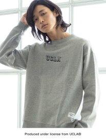 [Rakuten Fashion]【女性にもオススメ】UCLA×SUNNYSPORTS×coen別注UCLAカレッジプリントスウェット(トレーナー) coen コーエン カットソー スウェット グレー イエロー【送料無料】