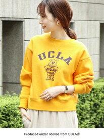 [Rakuten Fashion]【ウィメンズ】SUNNYSPORTS(サニースポーツ)別注×coen(コーエン)UCLAカレッジプリントスウェット(トレーナー) coen コーエン カットソー Tシャツ イエロー グレー【送料無料】