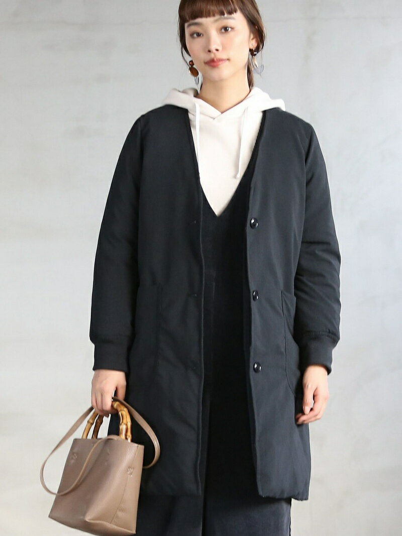 [Rakuten BRAND AVENUE]【春頃まで着られる】HOT FIBER中綿Vネックコート coen コーエン コート/ジャケット【送料無料】