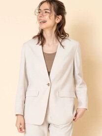 【SALE/50%OFF】ノーカラージャケット(セットアップ対応) coen コーエン コート/ジャケット ノーカラージャケット ホワイト ブラウン ネイビー【RBA_E】[Rakuten Fashion]