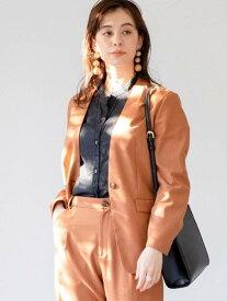 [Rakuten Fashion]ノーカラージャケット(セットアップ対応) coen コーエン コート/ジャケット ノーカラージャケット ホワイト ブラウン ネイビー【送料無料】
