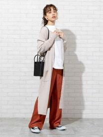 [Rakuten Fashion]【SALE/50%OFF】リブ編みロングカーディガン coen コーエン ニット カーディガン ホワイト ブラック【RBA_E】
