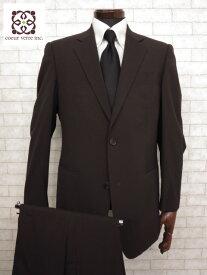 超美品 【プラダ PRADA】 極上ウール生地 2ボタンシングルスーツ (メンズ) size48 ブラウン    ◯MS1827◯【中古】