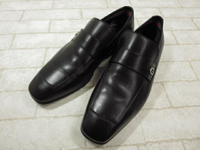 美品 【グッチ GUCCI】 高級レザーシューズ ローファー (メンズ) size38.5 紳士靴 ブラック ◯MZ2861◯ 【中古】