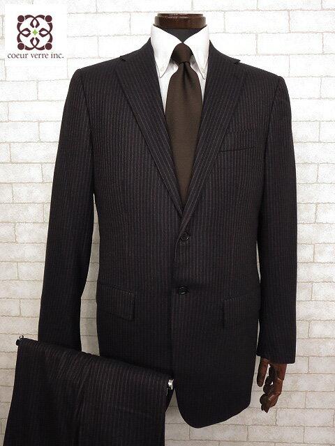 超美品 【キートン KITON】 極上カシミア100% ストライプスーツ (メンズ) size48 リデア正規品 ネイビー系 ナポリ仕立て ◯MS1829◯【中古】
