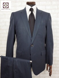 超美品 【ポールスミス Paul Smith】 2ボタン 極上微光沢生地 シングルスーツ (メンズ) ネイビー sizeL     ◯MS1840◯ 【中古】