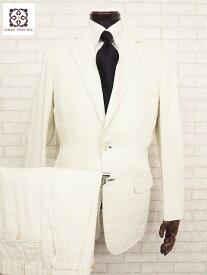 【エルメス HERMES】 最高級ピュアリネン生地使用 2ボタンシングルスーツ (メンズ) size46   □MS1563□ 【中古】
