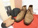 美品 【シルヴァノラッタンジ SILVANO LATTANZI】スエードチャッカブーツ (メンズ) ブラウン系 紳士靴 size6 ★MZ387…