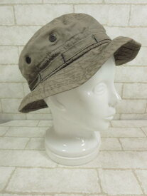 【カシラ CA4LA】 Newstreem ハット 帽子 (メンズ レディース) カーキ ◯LE1589◯ 【中古】
