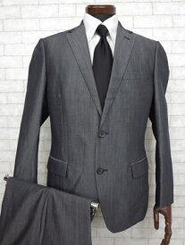 超美品【カルバンクライン Calvin Klein】イタリア生地 2ボタンシャンブレースーツ (メンズ) ネイビー size38   ◇MS2265◇【中古】