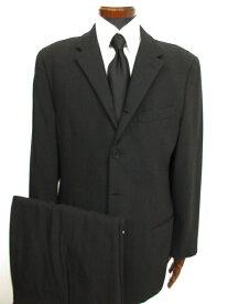 【エンポリオアルマーニ EMPORIO ARMANI】 シングル4つボタン 織柄 スーツ (メンズ) チャコールグレー size50 イタリア製 ★MS3028★ 【中古】