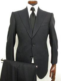 極美品 超高級テーラー 【ヴィックテーラー Vick tailor】 Super150's&MINK スキャバル生地 シングルスーツ (メンズ) ネイビー ★2MS3327★ 【中古】