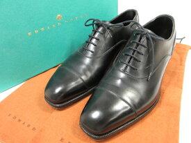 超美品 【エドワードグリーン Edward Green】 HEATH ヒース キャップトゥ (メンズ) 黒 UK6.5D888 革靴 紳士靴 ◎1MZ4553◎【中古】