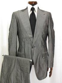 超美品 【ドルチェ&ガッバーナ DOLCE&GABBANA】 1つボタン シルク素材 スーツ (メンズ) グレー size48 ピークドラペル 微光沢 ◎3MS3521◎ 【中古】