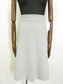 未使用品 【デミリー DEMYLEE】スウェット台形スカート(レディース) sizeS ライトグレー系◎7LF2015◎【中古】