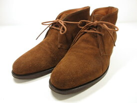 【ラルフローレン RALPH LAUREN】 イタリア製 スエードチャッカブーツ (メンズ) ブラウン size7.5EE 紳士靴  ◎1MZ4803◎【中古】