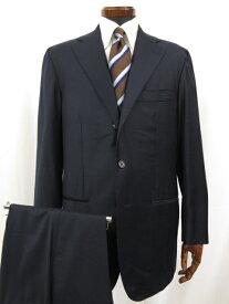 超美品 【ルイジボレッリ LUIGI BORRELLI】 3ボタン 段返り シルク混生地 シングルスーツ (メンズ) size52 ネイビー ◎1MS3489◎ 【中古】