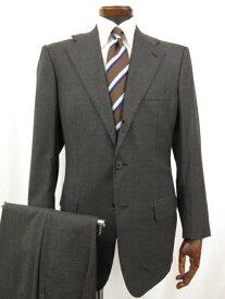 最高級SUPER150's 【キートン KITON】 DIAMANTE BLU 3ボタン 段返り スーツ (メンズ) size46 チャコールグレー ◎1MS3492◎ 【中古】