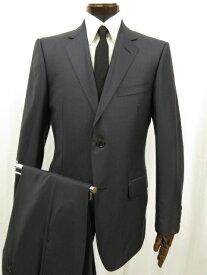 超美品 【グッチ GUCCI】 シングル2つボタン 織柄 シルク混 スーツ (メンズ) size48 微光沢 ネイビー 516U31 28JSFB ◎3MS3601◎【中古】