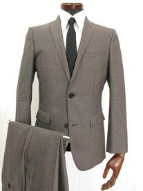 美品 【バーバリーブラックレーベル】 シングル2つボタン 織柄 シルク混 スーツ (メンズ) size36R グレー D1H93-310-44 ◎3MS3736◎ 【中古】