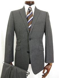 超美品 【バーバリーブラックレーベル】 シングル2つボタン ストライプ柄 スーツ (メンズ) size36R グレー BMD22-313-06 ◎3MS3927◎【中古】