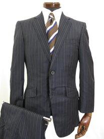 超美品 【ポールスミス ロンドン】 2ボタン ストライプ柄 スーツ(メンズ) ゼニア生地使用 sizeM ネイビー PL-HK-62530 ◎3MS3761◎【中古】