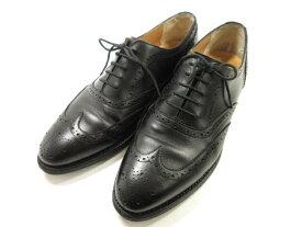 美品 【ロイドフットウェア Lloyd Footwear】 フルブローグ ドレスシューズ (メンズ) 黒 size9E 紳士靴 ◎1MZ5211 【中古】