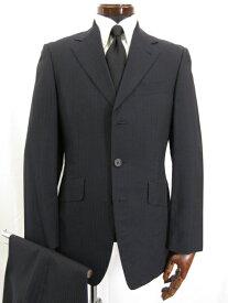 超美品 【ポールスミス ロンドン】 シングル3ボタン ストライプ柄 モヘヤ混 スーツ (メンズ) sizeM ネイビー SS-HK-4367 ◎3MS3929◎ 【中古】
