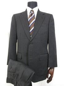 美品 【グレ GRES POUR HOMME】 ウール シングル2ボタン スーツ (メンズ) sizeA92 チャコールグレー ■5MS6530■【中古】