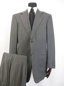 【パルジレリ PAL ZILERI】Super120's ウール 織柄 シングル2ボタン スーツ (メンズ) size52 チャコールグレー系 イタリア製 ■16MS8088■【中古】