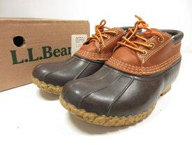 超美品 【L.L.Bean エルエルビーン】 60009 ビーンブーツ ラバーモカシン 紳士靴 (メンズ) size38 ブラウン 茶 USA製 ○8MZ1460○【中古】