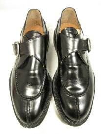 【kenneth Cole ケネスコール】 モンクストラップ シューズ 紳士靴 (メンズ) size8.5 ブラック 黒 □8MZ0733□【中古】