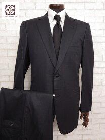 超美品 【エルメス HERMES】 最高級 Super180's ストライプ柄 2ボタン シングル スーツ (メンズ) ウール ネイビー size50   □MS1731□ 【中古】